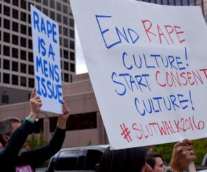 Hundreds march through downtown Salt Lake to protest rape culture