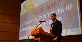 'More War?' Westminster College professor discusses foreign policy under Trump administration