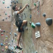 Meet the muscle behind the Bishop Climbing Wall