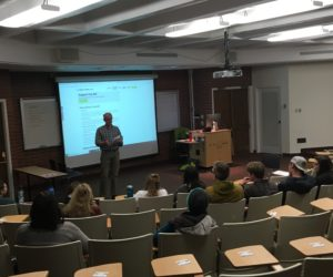 Guest speaker advocates for bi-partisan action on climate change, encourages student involvement