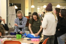 Students practice self-care, make homemade soap bars for single mothers' resource center