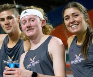 Track & field athlete breaks another school record