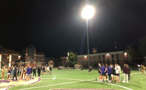 Lights installed at Dumke Field, increasing opportunities for athletics