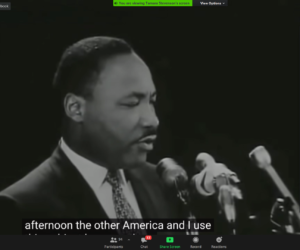 Speakers emphasize diversity, democracy during first-ever virtual MLK rally