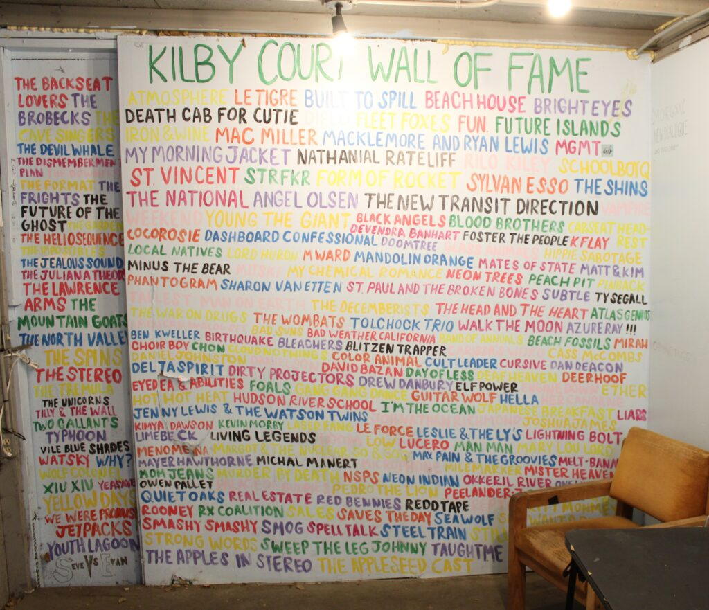The Wall of Fame at Kilby Court