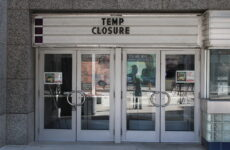 Local theaters remain closed during the pandemic.