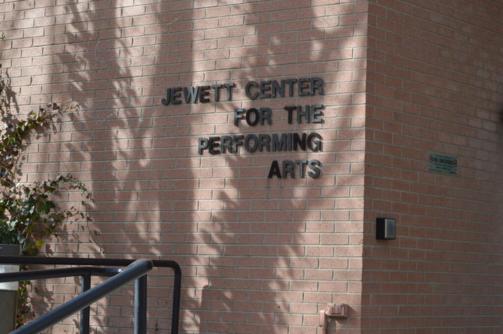 "Archive photo of Jewett Center for the Performing Arts. Westminster dancers create and perform ""Surrendered Contact"" in May of 2021."