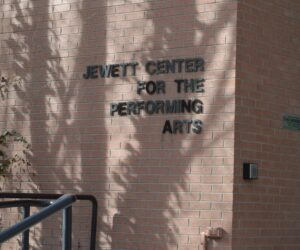 """Archive photo of Jewett Center for the Performing Arts. Westminster dancers create and perform """"Surrendered Contact"""" in May of 2021."""
