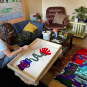 'I can probably do that': Westminster student hooked on traditional rug making