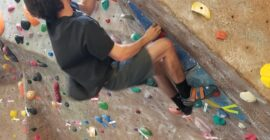Westminster hosts first staggered, self-scored Spring bouldering competition