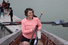 Meghan Saunders coaches the youth rowing club at the Great Salt Lake.
